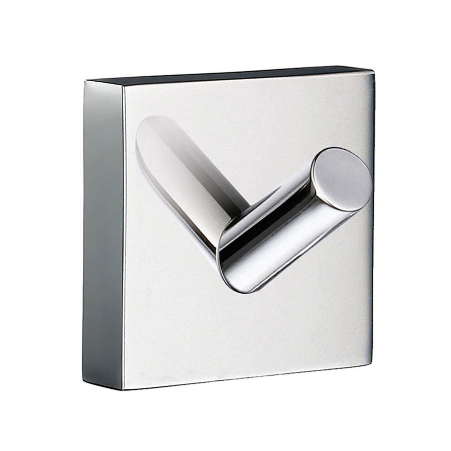 Smedbo House - Polished Chrome Single Towel Hook - RK355 profile large image view 1
