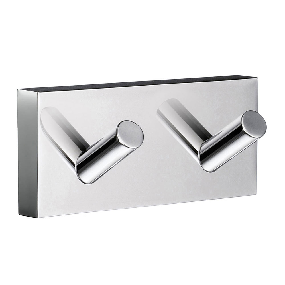 Smedbo House - Polished Chrome Double Towel Hook - RK356 Large Image