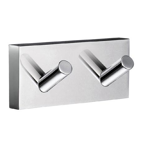 Smedbo House - Polished Chrome Double Towel Hook - RK356