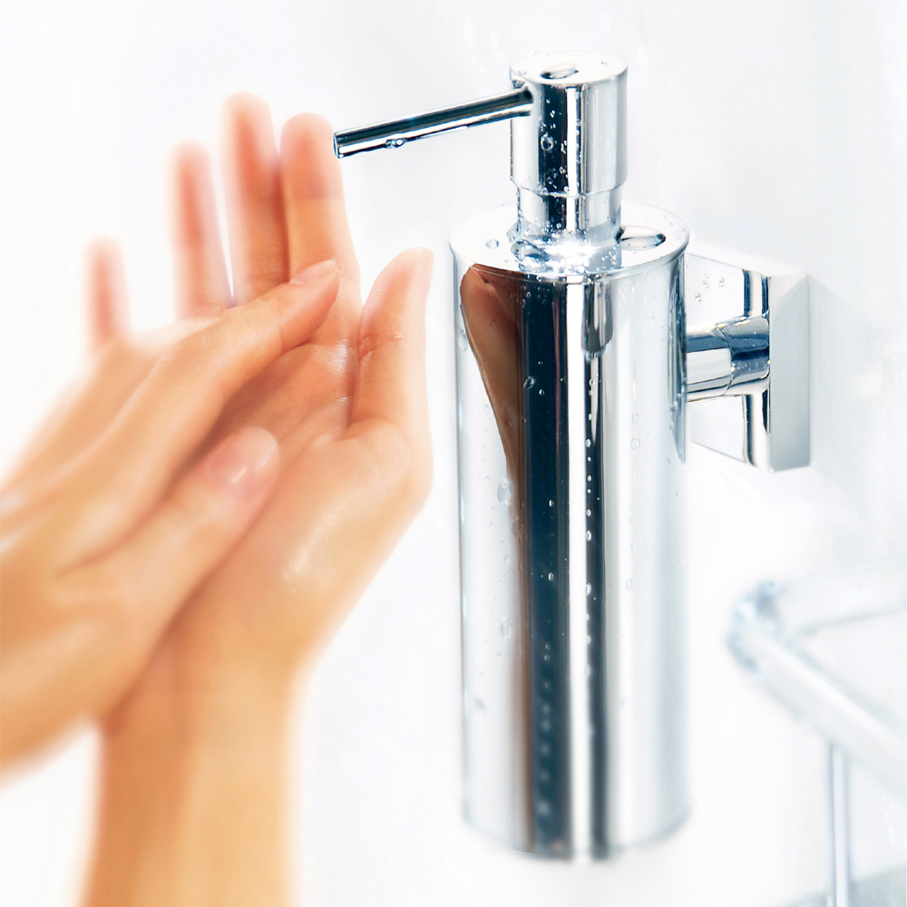 Smedbo House - Polished Chrome Wall Mounted Soap Dispenser - RK370 profile large image view 2