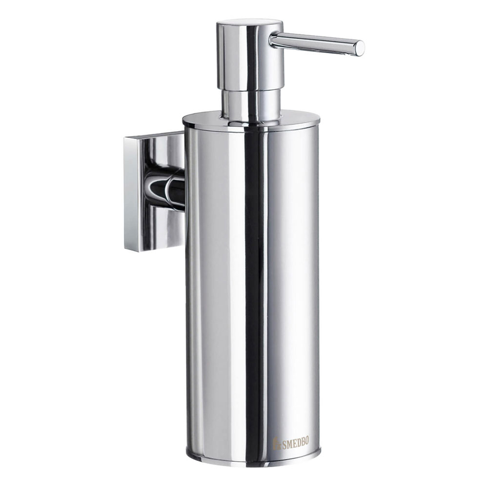 Smedbo House - Polished Chrome Wall Mounted Soap Dispenser - RK370 profile large image view 1