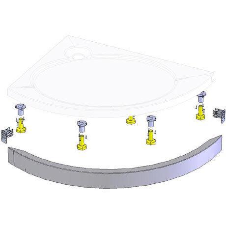 Coram - Offset Crescent Slimline Tray Riser Kit - RKASTC12