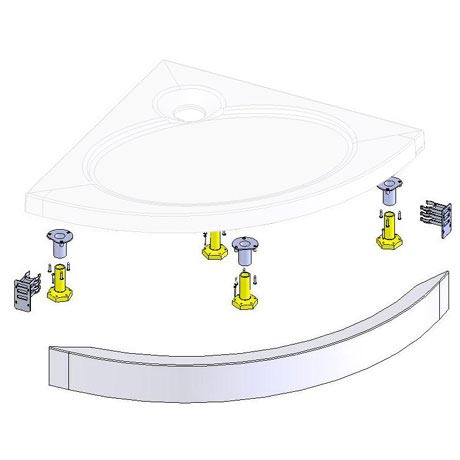 Coram - Crescent Slimline Tray Riser Kit - Various Size Options