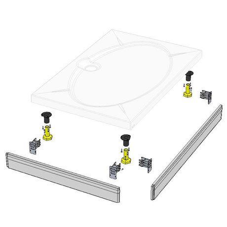 Coram - Rectangular Slimline Tray Riser Kit - RKSTR2
