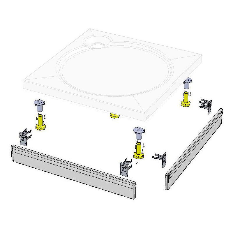 Coram - Square Slimline Tray Riser Kit - RKSTS1 profile large image view 1