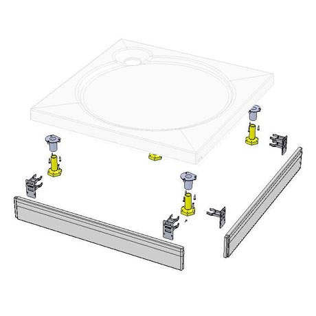 Coram - Square Slimline Tray Riser Kit - RKSTS1