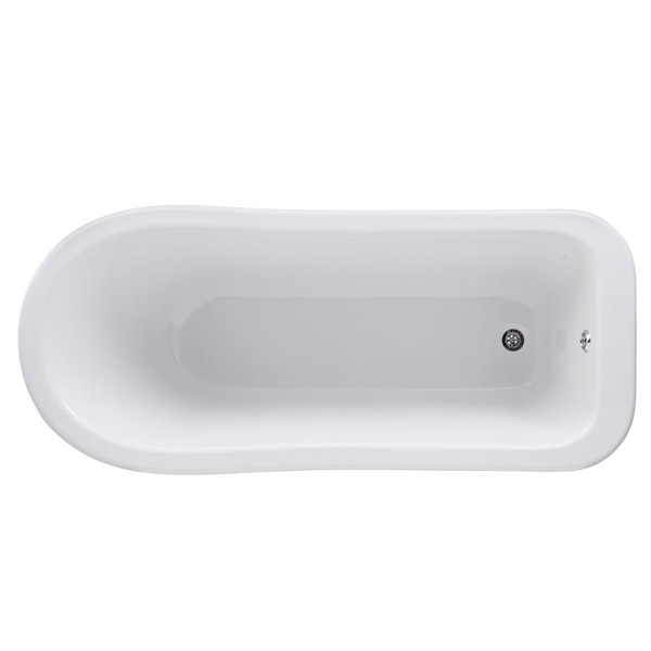 Premier Kensington 1500 Small Roll Top Slipper Bath Inc. Chrome Legs profile large image view 2