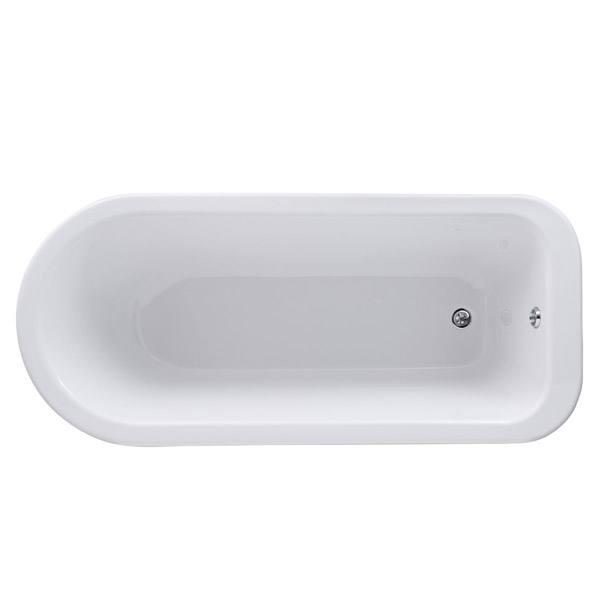 Premier Berkshire 1700 Single Ended Roll Top Bath Inc. Chrome Legs Profile Large Image