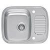 Reginox Regidrain 1.0 Bowl 2TH Stainless Steel Inset Kitchen Sink profile small image view 1