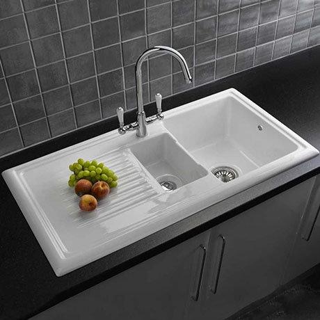 Reginox Traditional White Ceramic 1.5 Kitchen Sink + Mixer Tap