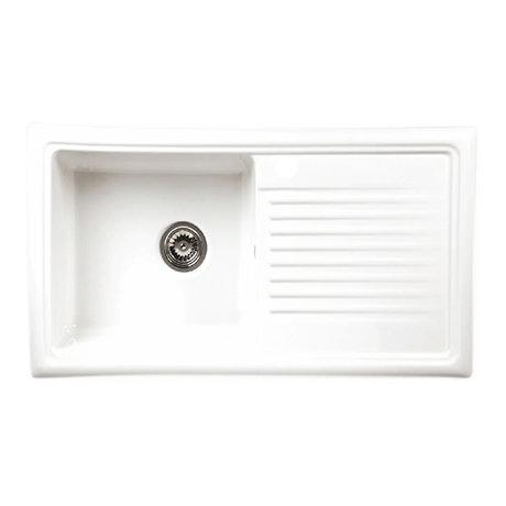 Reginox White Ceramic 1.0 Bowl Kitchen Sink - RL304CW