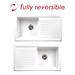 Reginox White Ceramic 1.0 Bowl Kitchen Sink - RL304CW profile small image view 2