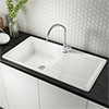 Reginox White Ceramic 1.0 Bowl Kitchen Sink - RL304CW profile small image view 1