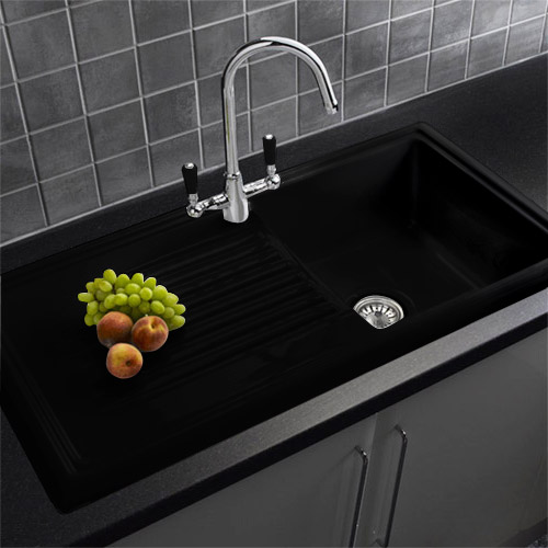 reginox traditional black ceramic 1 0 kitchen sink and