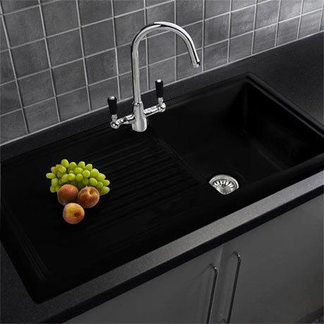 Reginox Traditional Black Ceramic 1.0 Kitchen Sink