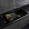Reginox Traditional Black Ceramic 1.0 Bowl Kitchen Sink profile small image view 1