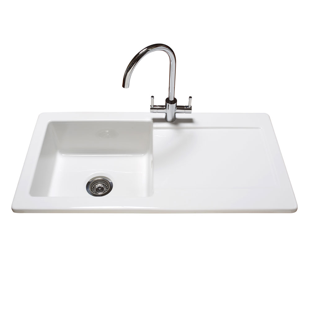 white kitchen sink reginox contemporary white ceramic 1 0 bowl kitchen sink 1047