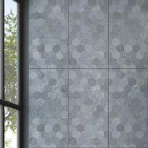 Arden Anthracite Linen Effect Hexagon Decor Wall Tiles - 30 x 60cm Medium Image