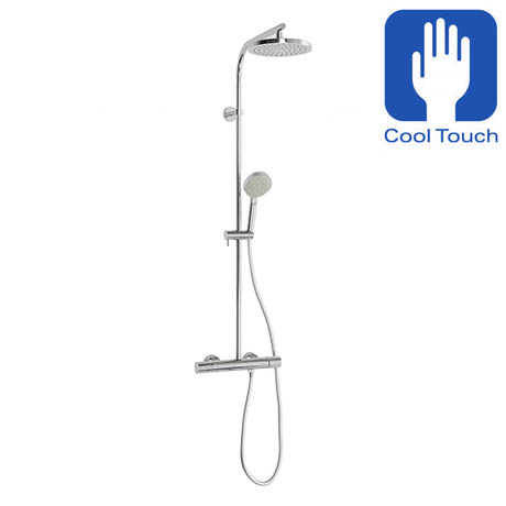 Crosswater - Curve Cool-Touch Multifunction Thermostatic Shower Valve and Kit - RM553WC