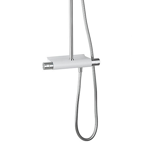 Crosswater - Arctic Chrome and White Multifunction Thermostatic Shower Valve with Kit - RM600WC Feature Large Image