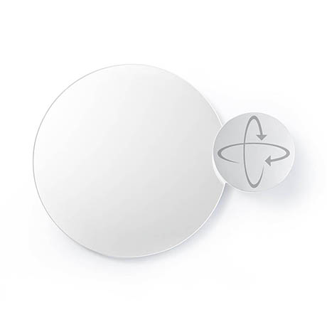 Wall Mounted Round Mirror with Magnifying Mirror Dark Oak