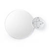 Wall Mounted Round Mirror with Magnifying Mirror Dark Oak profile small image view 1