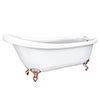 Oxford 1710 Roll Top Slipper Bath + Rose Gold Leg Set profile small image view 1