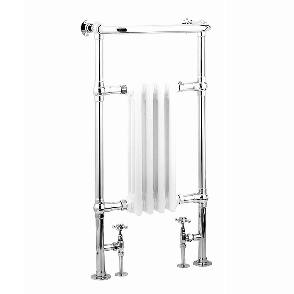 Reina Alicia Traditional Towel Rail Radiator - 960 x 495mm Large Image