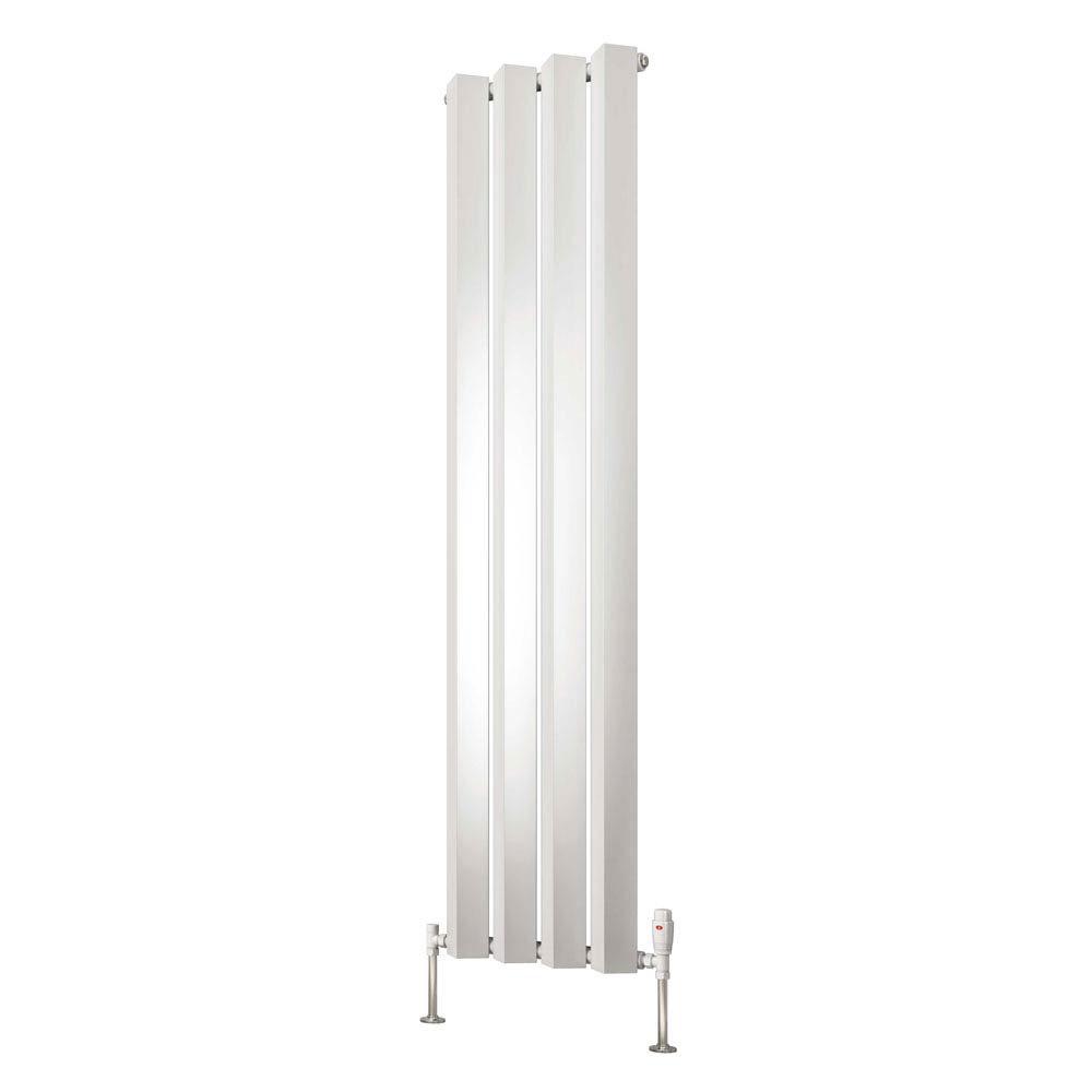 Reina Alp Steel Designer Radiator - White profile large image view 2