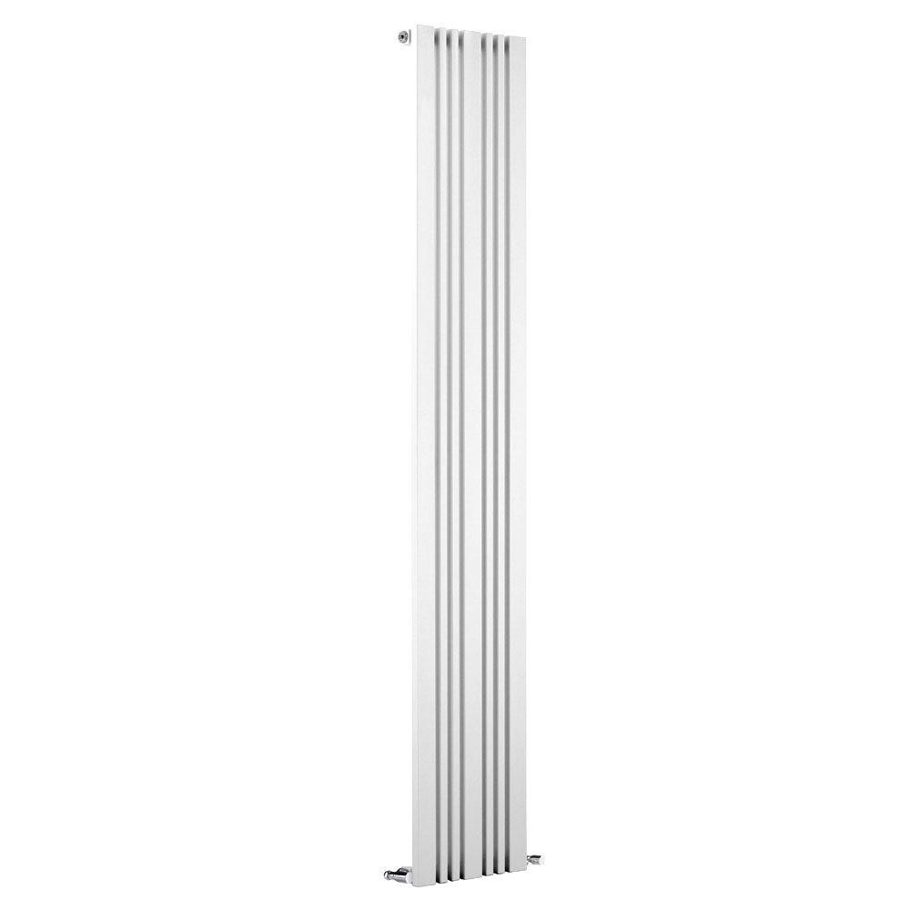 Reina Bonera Vertical Steel Designer Radiator - White profile large image view 1