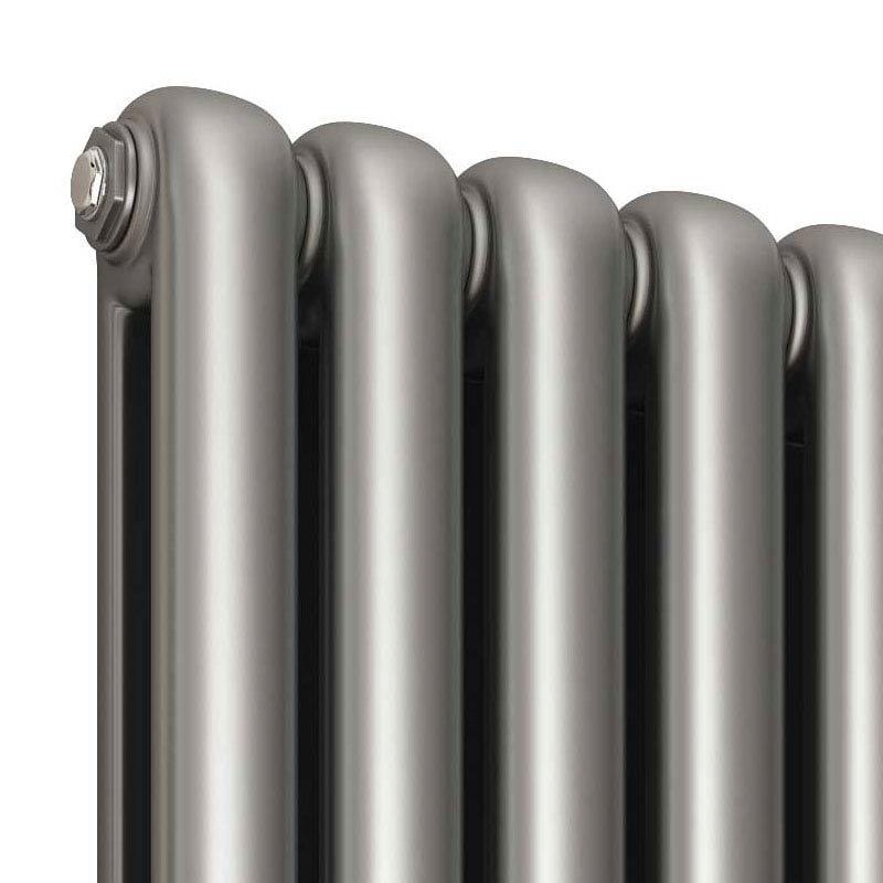 Reina Coneva Horizontal Steel Designer Radiator - Silver  Profile Large Image