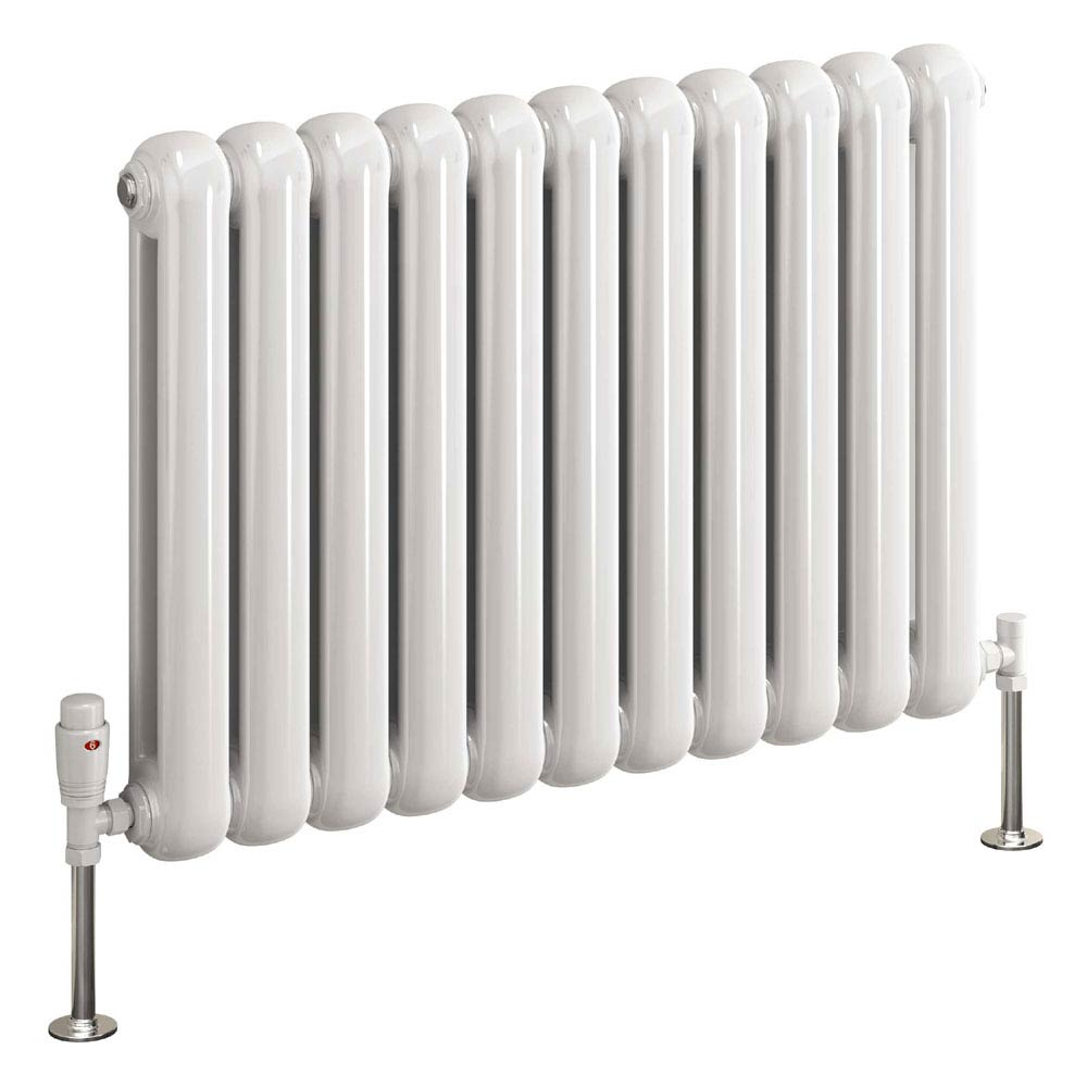 Reina Coneva Horizontal Steel Designer Radiator - White profile large image view 2