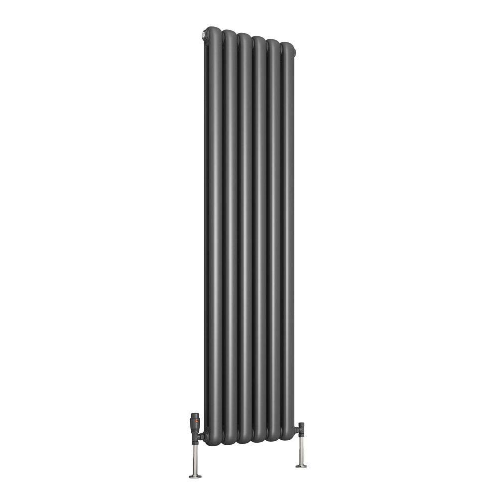 Reina Coneva Vertical Steel Designer Radiator - Anthracite profile large image view 1