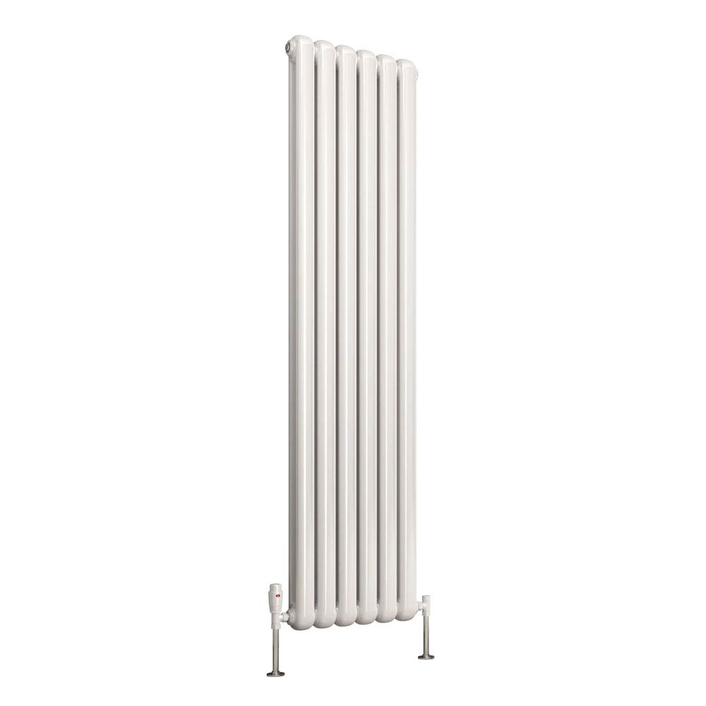 Reina Coneva Vertical Steel Designer Radiator - White  Profile Large Image
