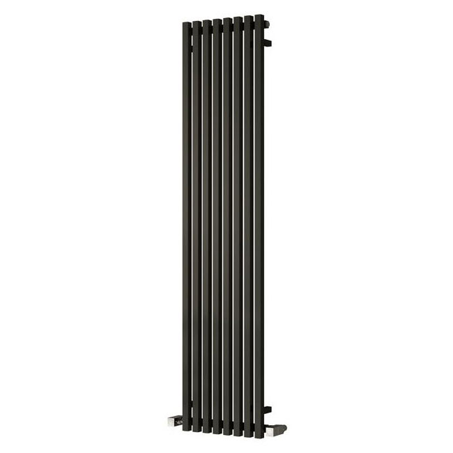 Reina Cascia Vertical Steel Designer Radiator - Black profile large image view 1