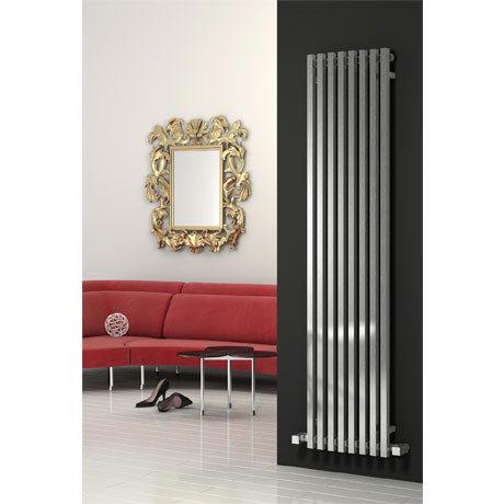 Reina Cascia Vertical Steel Designer Radiator - Chrome