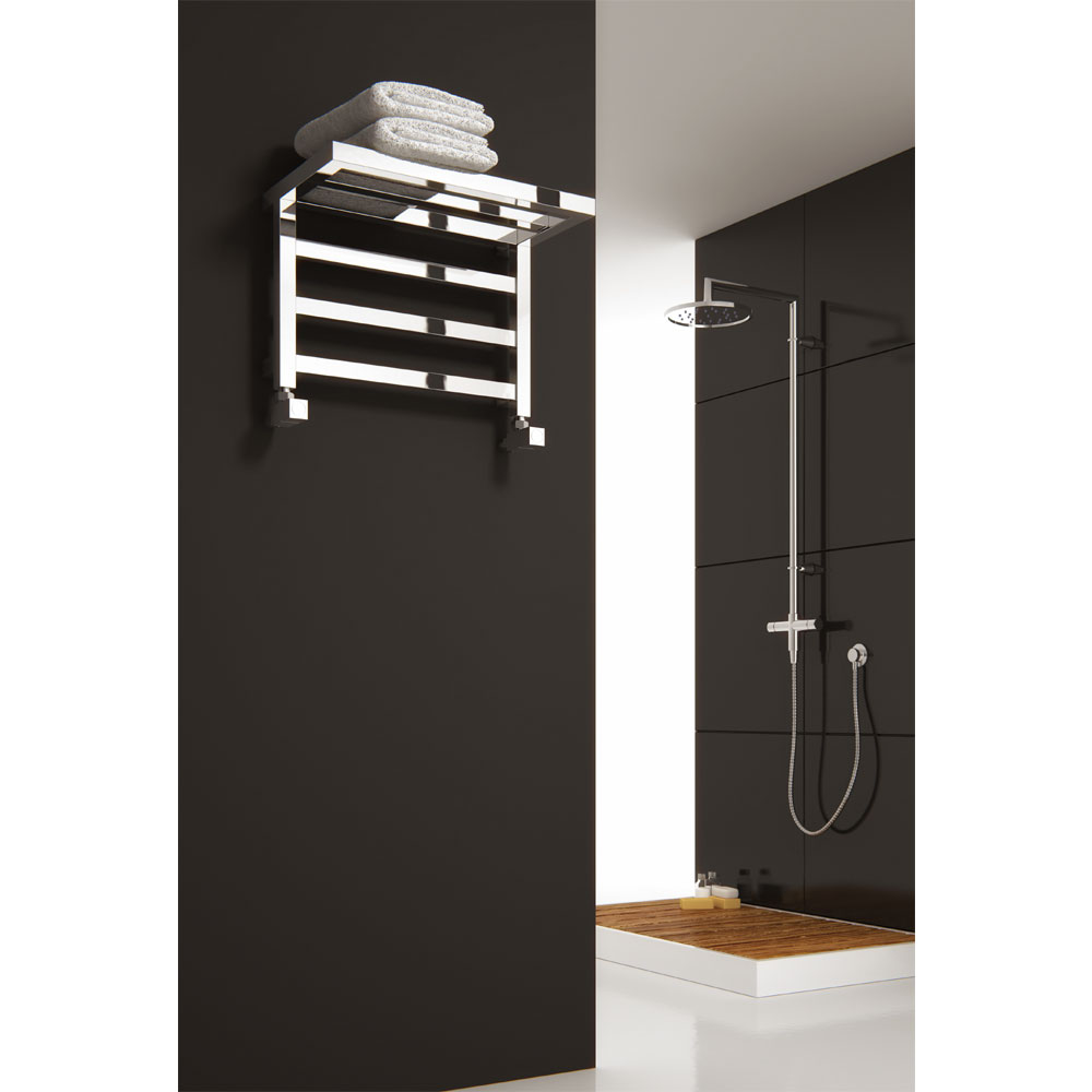 Reina Elvina Steel Designer Radiator - 350 x 500mm - Chrome profile large image view 2