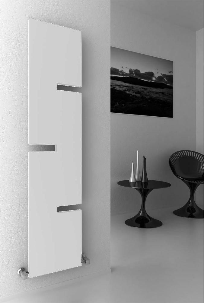 Reina Fiore Steel Designer Radiator - 1800 x 400mm - White Large Image