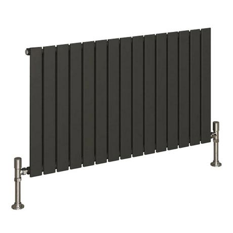 Reina Flat Horizontal Single Panel Designer Radiator - Anthracite