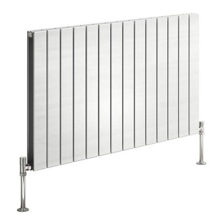 Reina Flat Horizontal Double Panel Designer Radiator - White