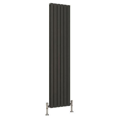 Reina Flat Vertical Double Panel Designer Radiator - Anthracite