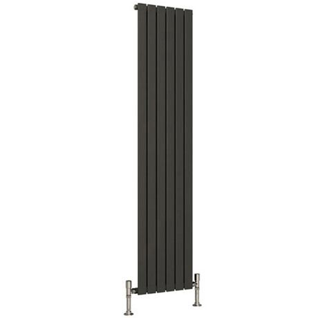 Reina Flat Vertical Single Panel Designer Radiator - Anthracite