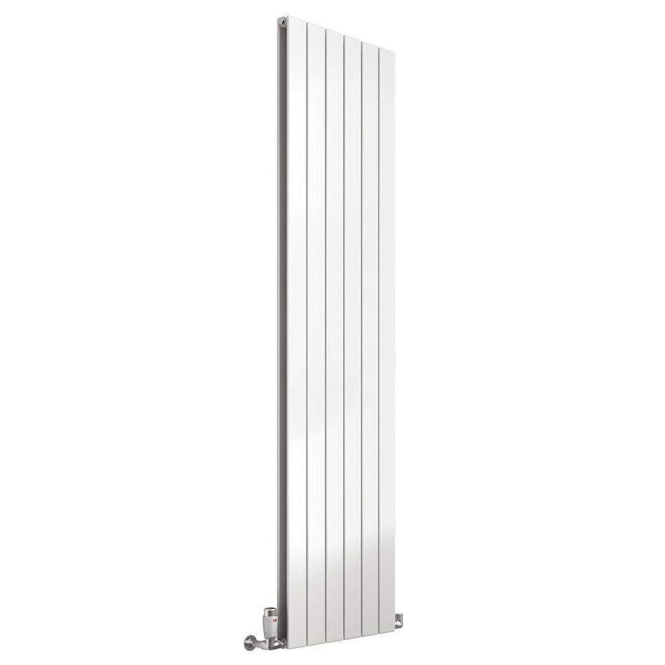 Reina Flat Vertical Double Panel Designer Radiator - White Large Image