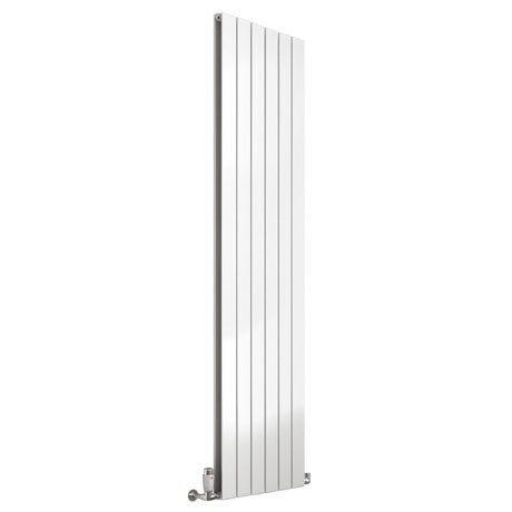 Reina Flat Vertical Double Panel Designer Radiator - White
