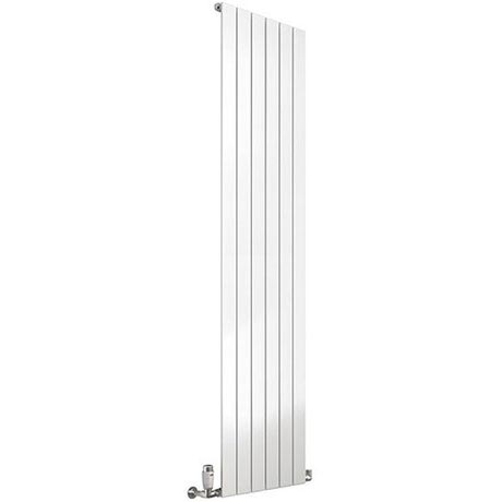 Reina Flat Vertical Single Panel Designer Radiator - White