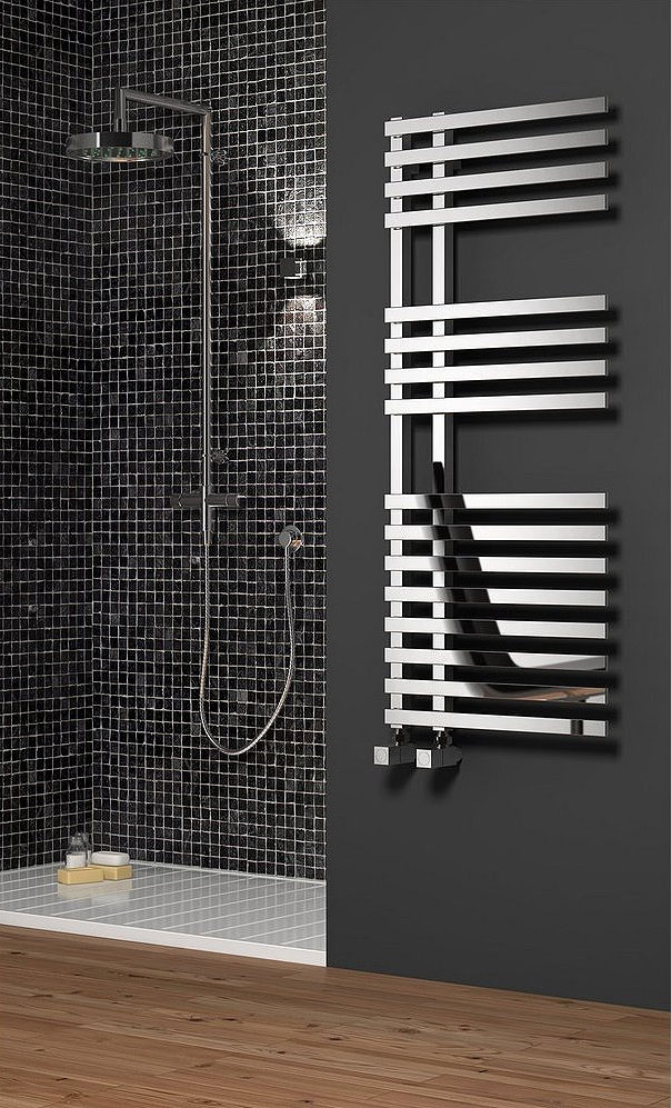 Reina Felino Steel Designer Radiator - Chrome profile large image view 1