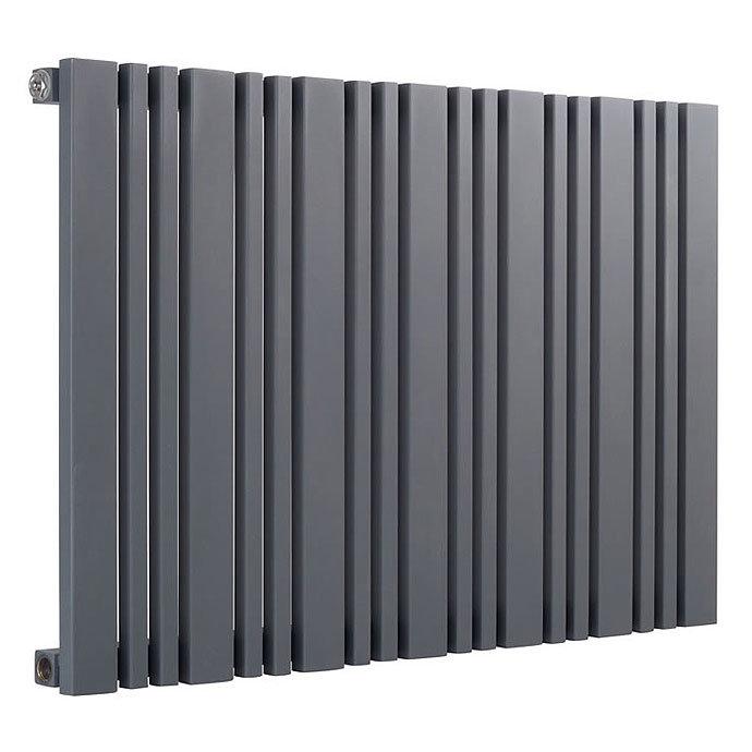 Reina Bonera Horizontal Steel Designer Radiator - Anthracite profile large image view 1