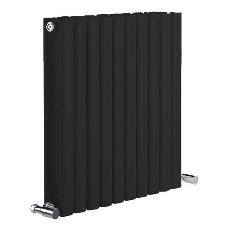 Reina Neva Horizontal Double Panel Designer Radiator - Black