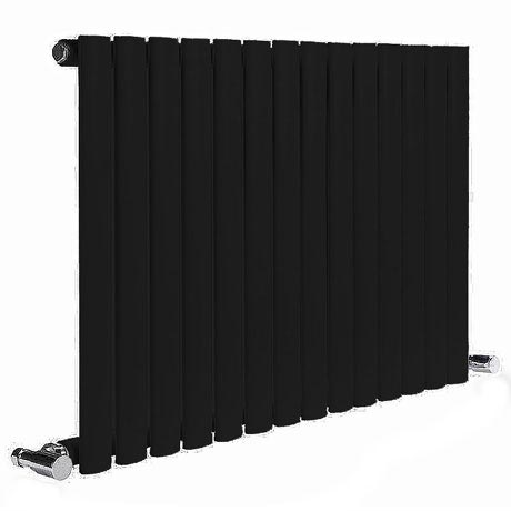 Reina Neva Horizontal Single Panel Designer Radiator - Black