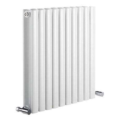 Reina Neva Horizontal Double Panel Designer Radiator - White